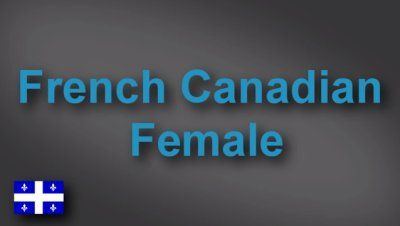 French Canadian female voice-over demo