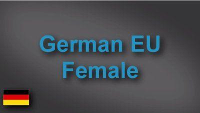 German female voice-over demo