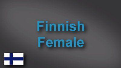 Finnish female voice-over demo