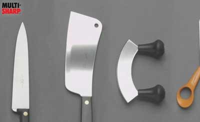 UK voice artist - Multi-Sharp 2 in 1 Knife and Scissor Sharpener