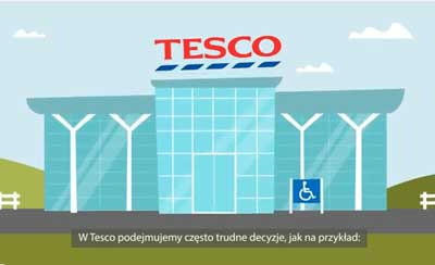Polish subtitling and captions for Tesco