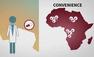 ) British voice-over in African accent for 'Fake antimalarials, rethinking the problem'