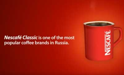 English read in an Russian Accent for Nescafe