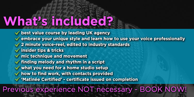 Voice over training course near London