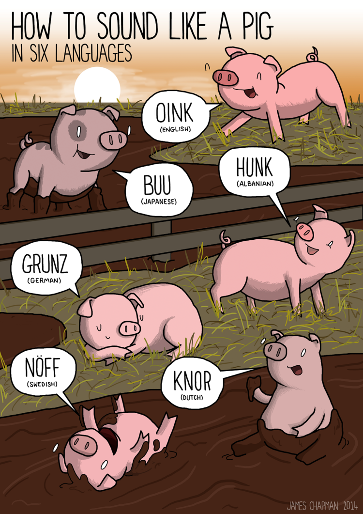 How pigs oink in other languages
