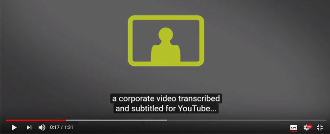 adding YouTube Closed Captions