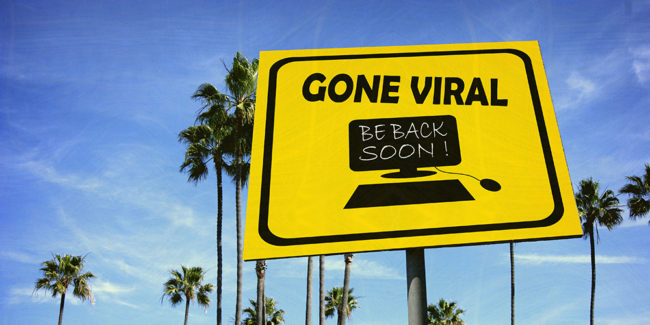 Viral video content sign